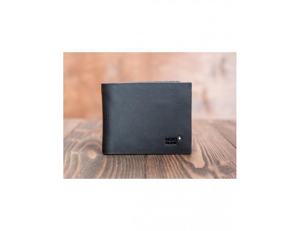 Кожаное портмоне Montblanc MOK-1785 чёрный - Фото № 2
