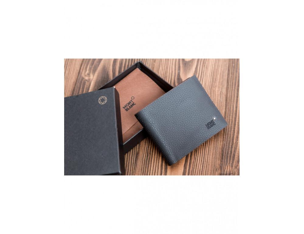 Кожаное портмоне Montblanc MOK-1785 чёрный - Фото № 3