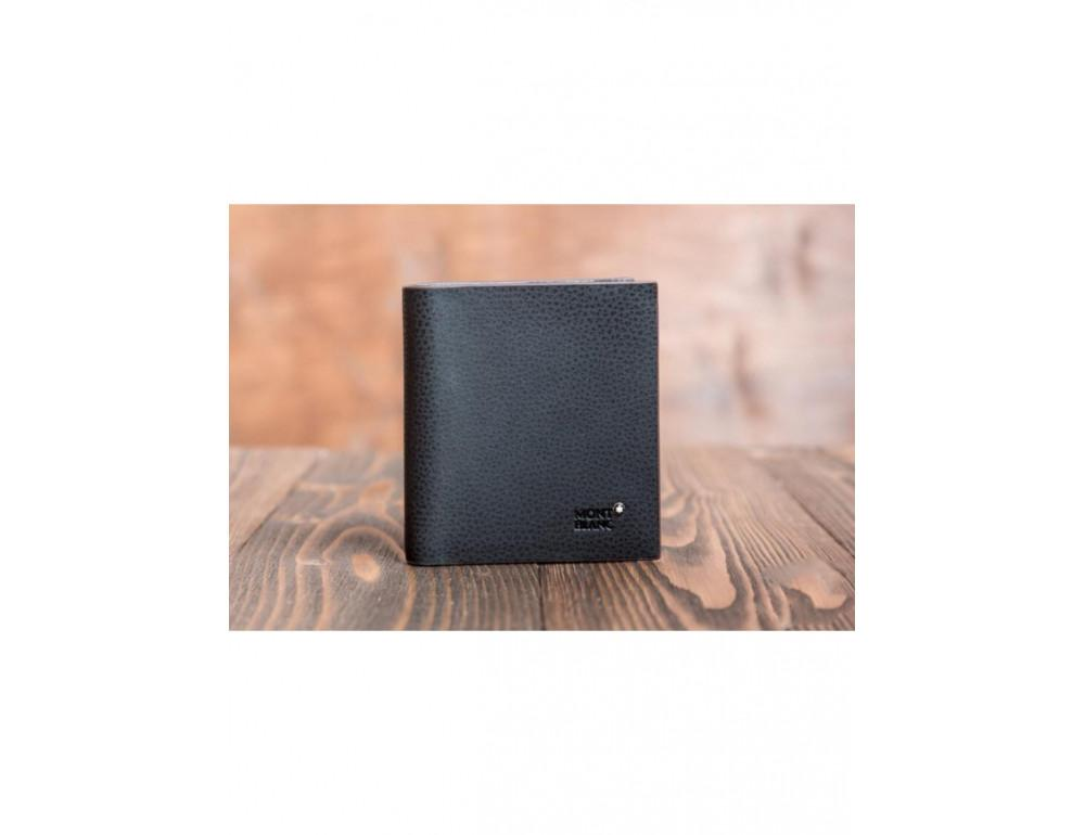 Кожаное портмоне Montblanc MOK-938 чёрный - Фото № 2