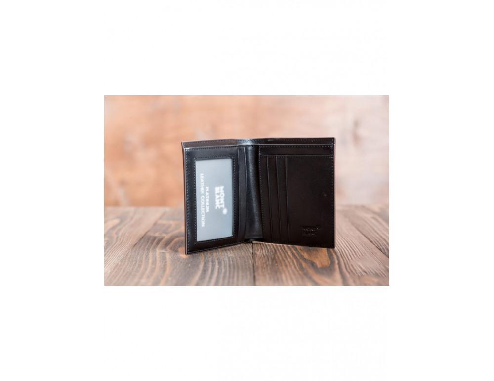 Кожаное портмоне Montblanc MOK-938 чёрный - Фото № 3