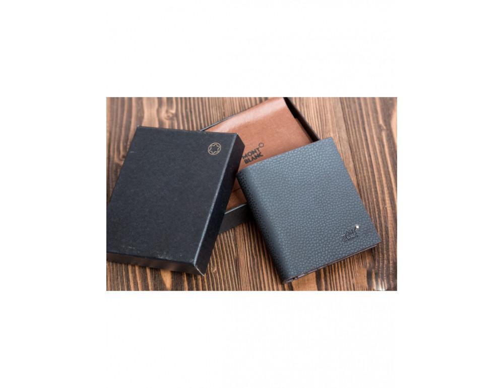 Кожаное портмоне Montblanc MOK-938 чёрный - Фото № 4