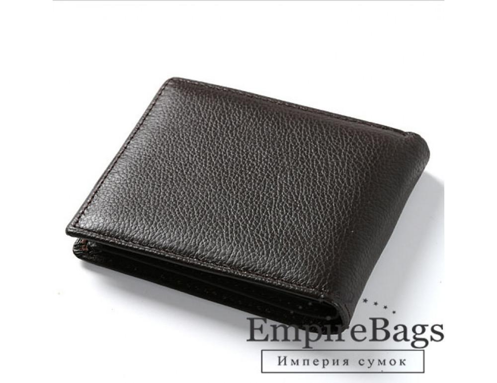 Мужской кожаный кошелёк S.J.D. R-3044C тёмно-коричневый - Фото № 1
