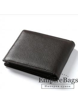 Мужской кожаный кошелёк S.J.D. R-3044C тёмно-коричневый