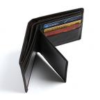 Мужской кожаный кошелёк S.J.D. R-3044C тёмно-коричневый - Фото № 101