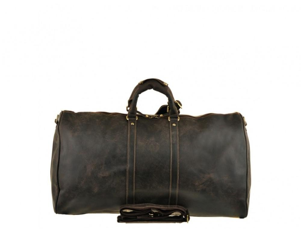 Дорожня сумка Bexhill з кінської шкіри G3264B темно-коричневий - Фотографія № 2