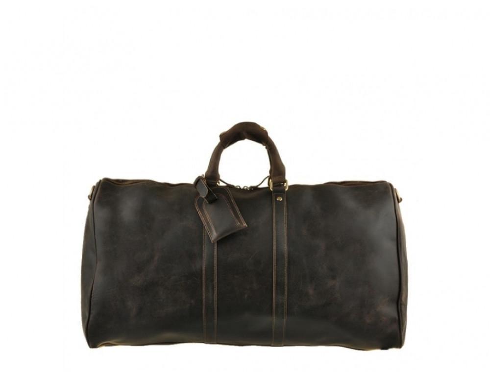 Дорожня сумка Bexhill з кінської шкіри G3264B темно-коричневий - Фотографія № 6