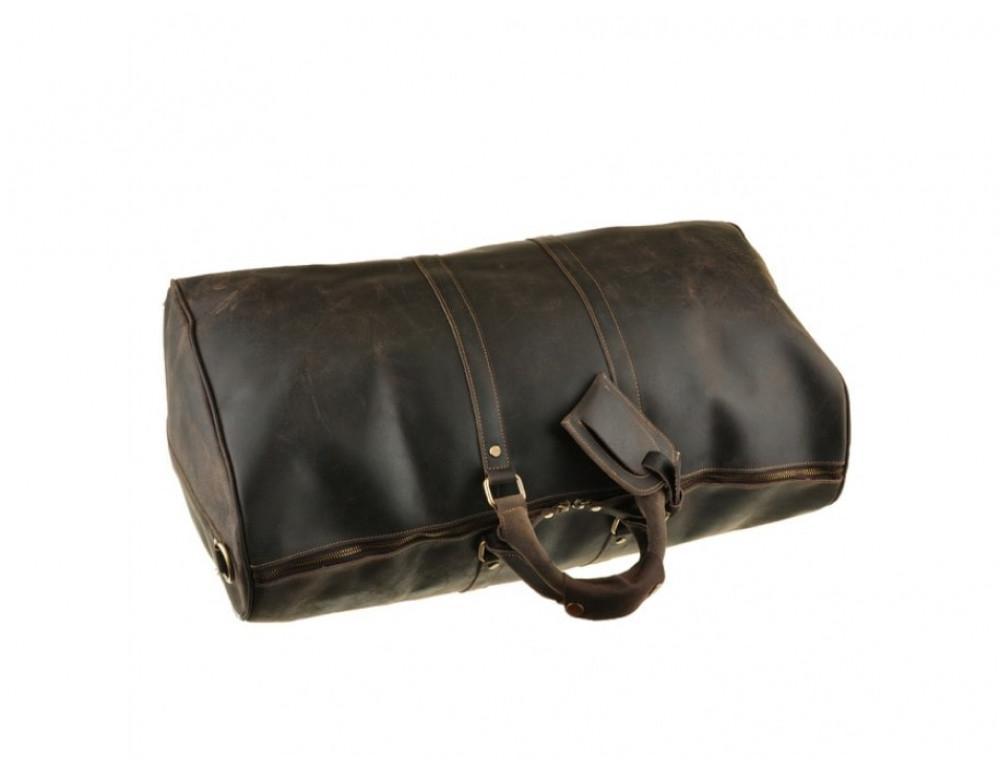 Дорожня сумка Bexhill з кінської шкіри G3264B темно-коричневий - Фотографія № 3