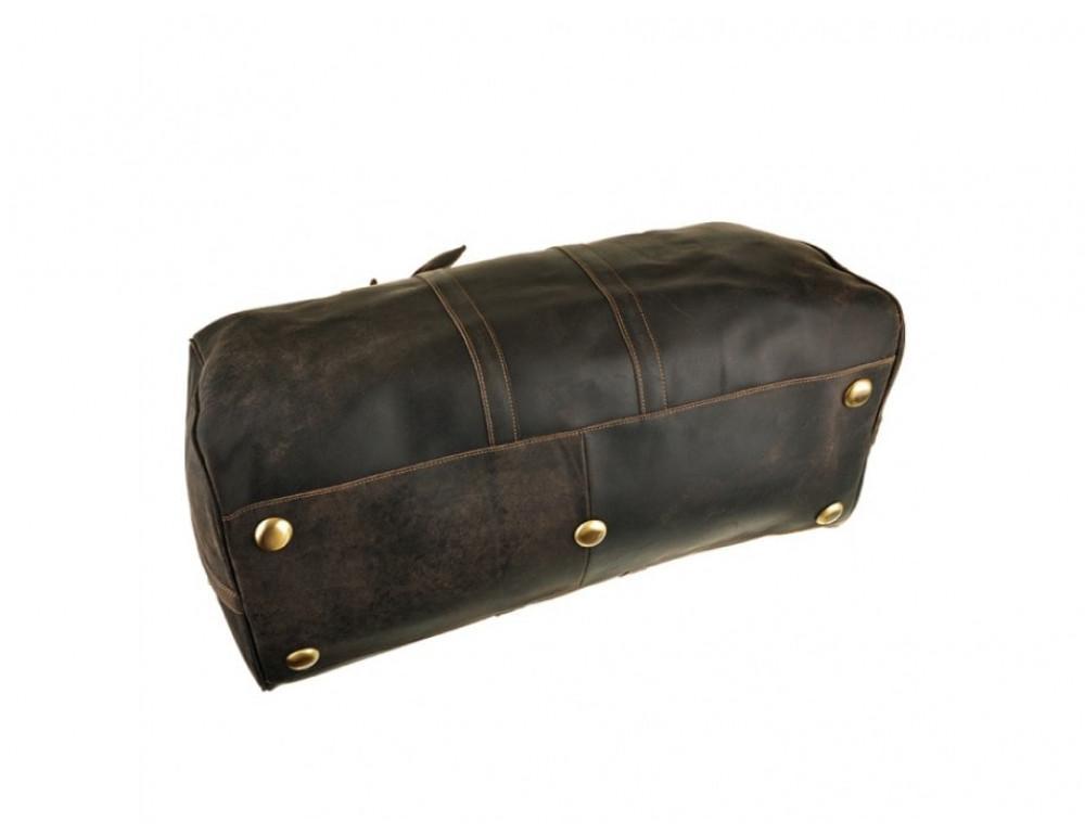 Дорожня сумка Bexhill з кінської шкіри G3264B темно-коричневий - Фотографія № 4