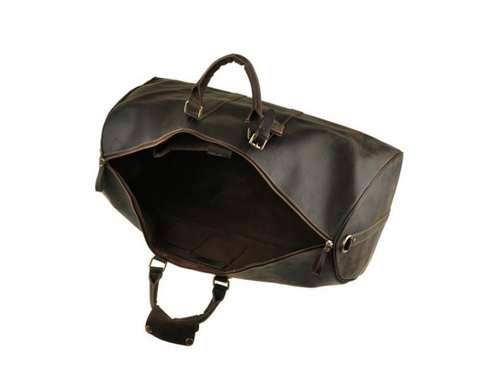 Дорожня сумка Bexhill з кінської шкіри G3264B темно-коричневий - Фотографія № 5