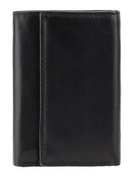 Чёрная кожаная ключница кошелёк Visconti 1178 BLK