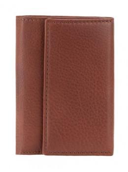 Коричневая кожаная ключница кошелёк Visconti 1178 BRN