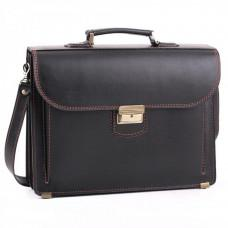 Черный кожаный портфель для мужчин Manufatto 12201AC