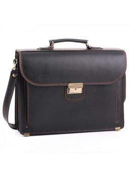 Чорний шкіряний портфель для чоловіків Manufatto 12201AC
