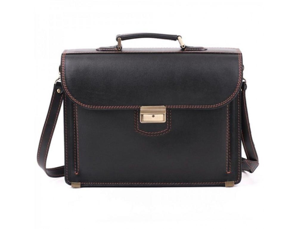 Черный кожаный портфель для мужчин Manufatto 12201AC - Фото № 2