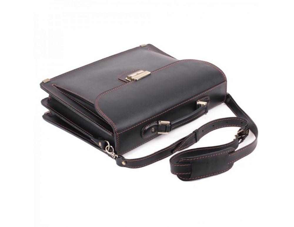 Черный кожаный портфель для мужчин Manufatto 12201AC - Фото № 3