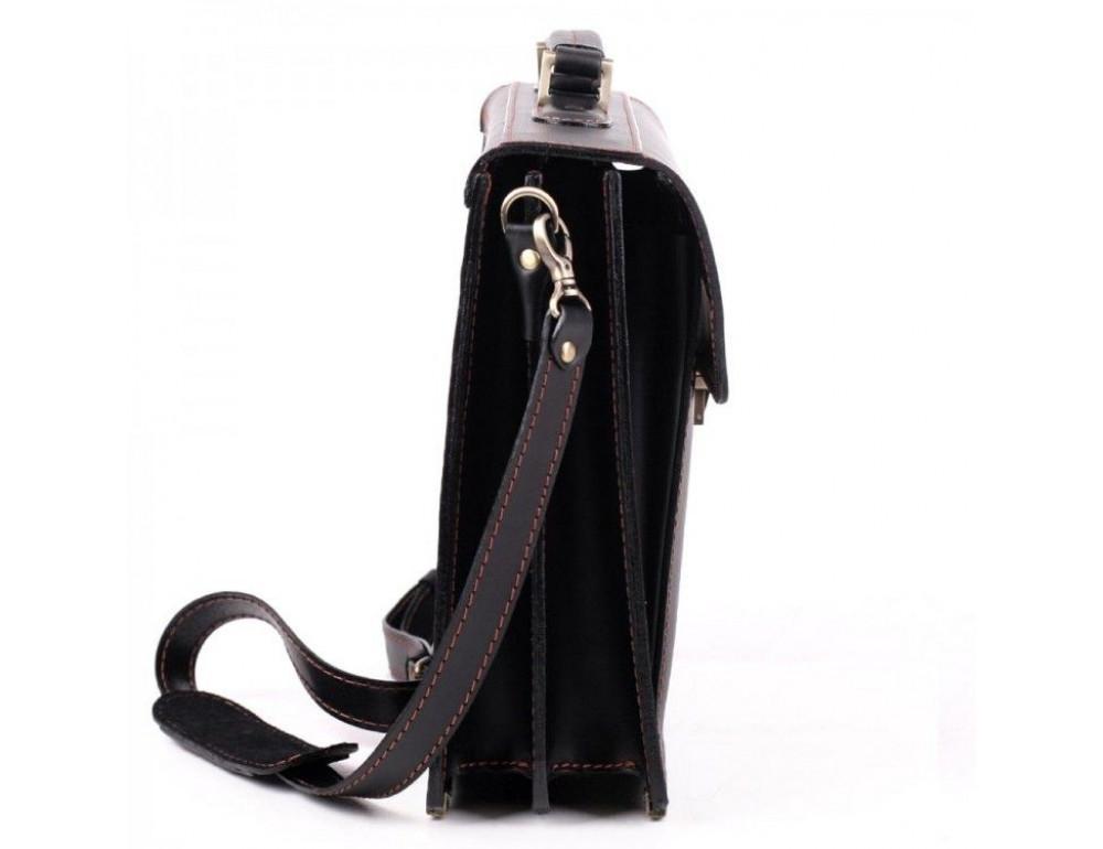 Черный кожаный портфель для мужчин Manufatto 12201AC - Фото № 4