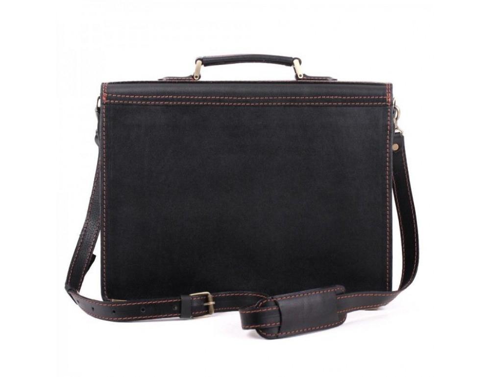 Черный кожаный портфель для мужчин Manufatto 12201AC - Фото № 5