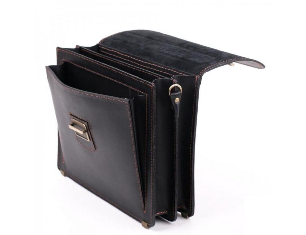 Черный кожаный портфель для мужчин Manufatto 12201AC - Фото № 6