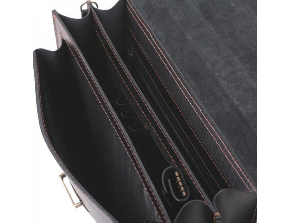 Черный кожаный портфель для мужчин Manufatto 12201AC - Фото № 7