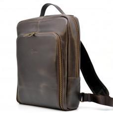 Тёмно-коричневый винтажный рюкзак TARWA TC-1239-4lx