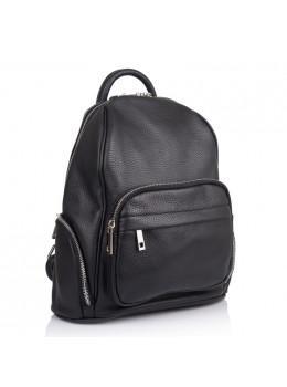 Чёрний жіночий шкіряний рюкзак VIRGINIA CONTI - VC2238 Black