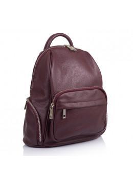 Бордовий жіночий шкіряний рюкзак VIRGINIA CONTI (ІТАЛІЯ) - VC2238 BORDO