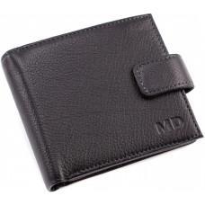 Чорний маленький гаманець чоловічий MD Leather MC 132-a