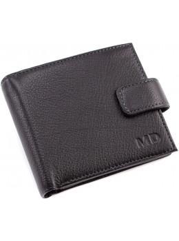 Чёрный маленький кошелёк мужской MD Leather MC 132-a