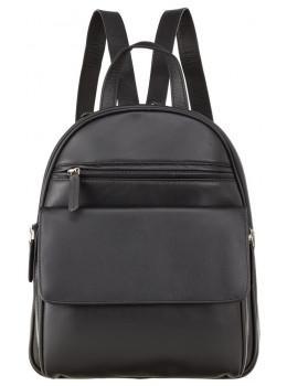 Чёрный кожаный рюкзак Visconti 1433 BLK Gina