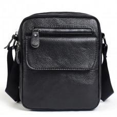 Маленькая мужская сумка из зернистой кожи Vintage 14704