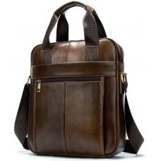 Коричневая деловая сумка Tiding Bag 14789C