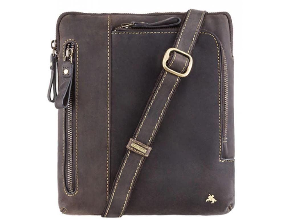 Тёмно-коричневая сумка через плечо Visconti 15056 Roy (Oil Brown) - Фото № 1