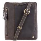 Тёмно-коричневая сумка через плечо Visconti 15056 Roy (Oil Brown) - Фото № 100