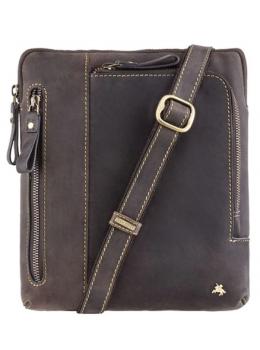 Тёмно-коричневая сумка через плечо Visconti 15056 Roy (Oil Brown)