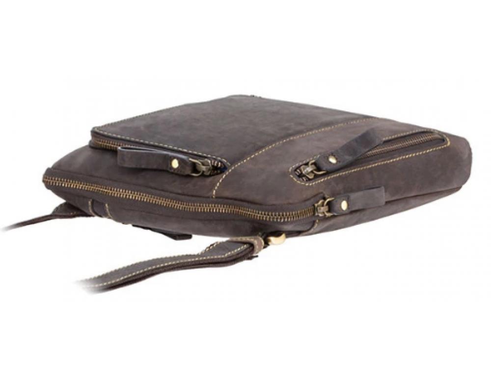 Тёмно-коричневая сумка через плечо Visconti 15056 Roy (Oil Brown) - Фото № 3