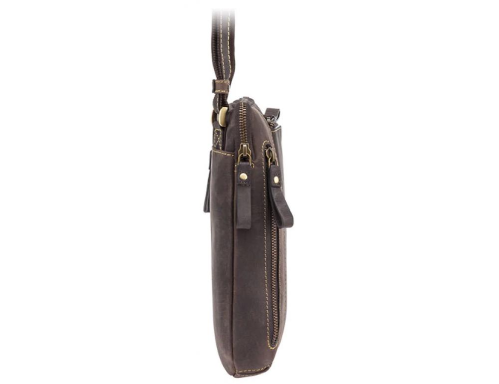 Тёмно-коричневая сумка через плечо Visconti 15056 Roy (Oil Brown) - Фото № 4