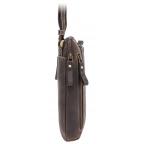 Тёмно-коричневая сумка через плечо Visconti 15056 Roy (Oil Brown) - Фото № 103