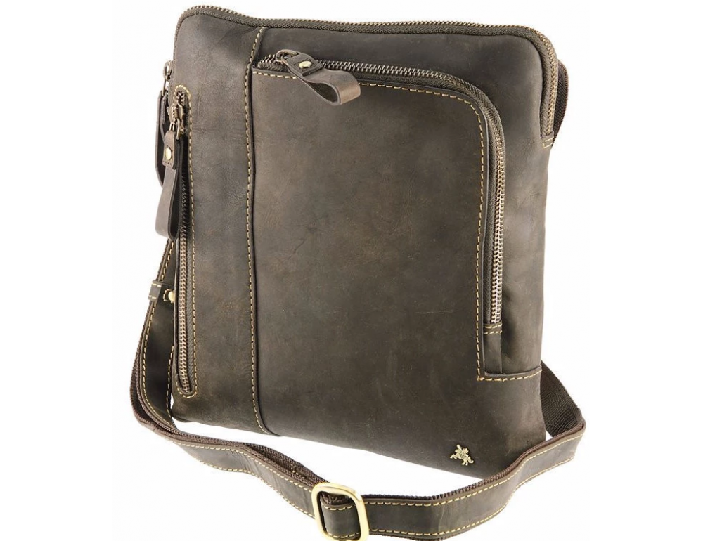 Тёмно-коричневая сумка через плечо Visconti 15056 Roy (Oil Brown) - Фото № 5