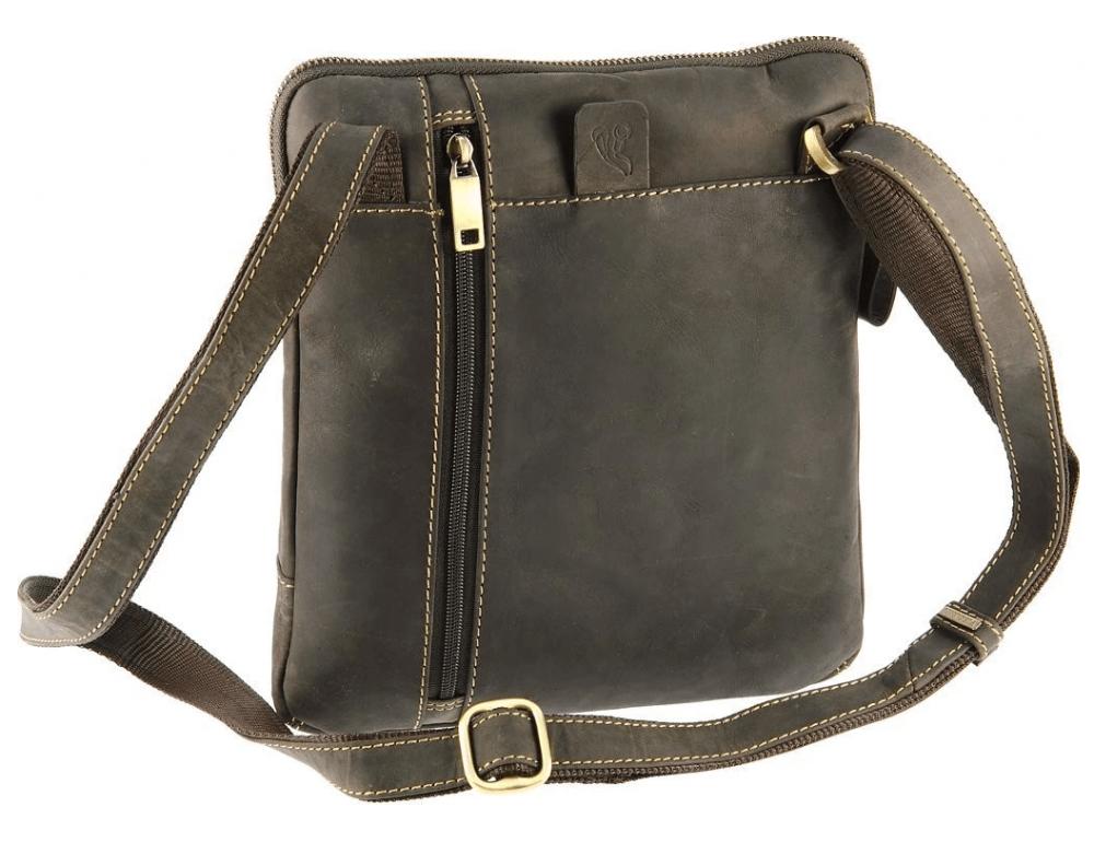 Тёмно-коричневая сумка через плечо Visconti 15056 Roy (Oil Brown) - Фото № 6