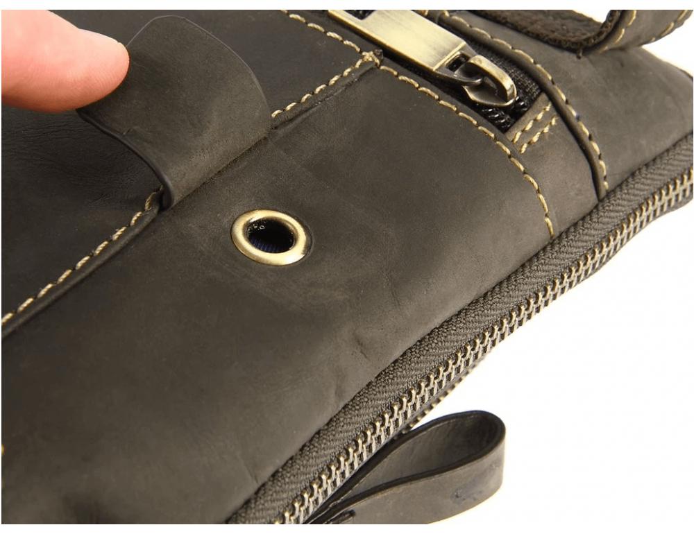 Тёмно-коричневая сумка через плечо Visconti 15056 Roy (Oil Brown) - Фото № 7
