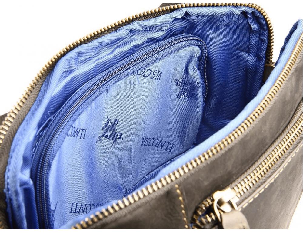 Тёмно-коричневая сумка через плечо Visconti 15056 Roy (Oil Brown) - Фото № 8