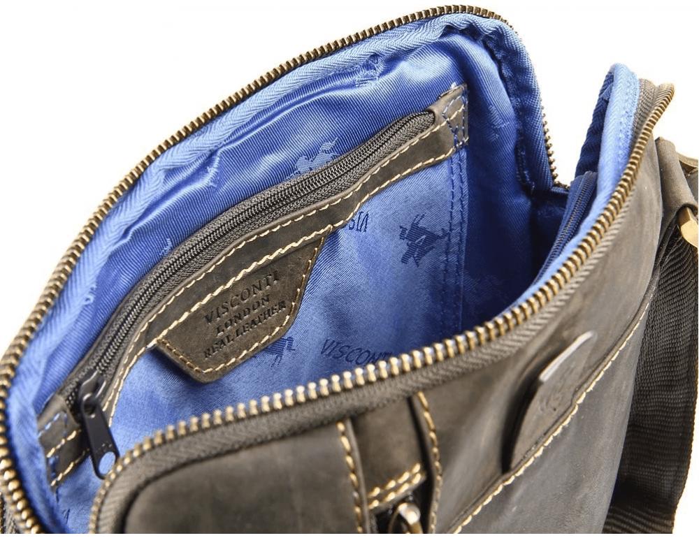 Тёмно-коричневая сумка через плечо Visconti 15056 Roy (Oil Brown) - Фото № 9