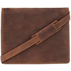 Коричнева шкіряна сумка через плече Visconti 16025 OIL TAN