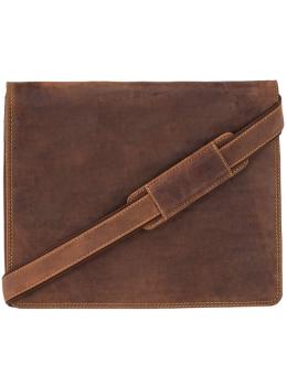 Коричневая кожаная сумка через плечо Visconti 16025 OIL TAN