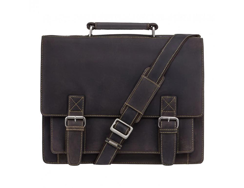 Коричневый мужской портфель из натуральной кожи Visconti 16055ХL OIL BR - Фото № 1