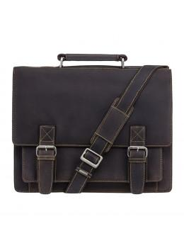 Коричневий чоловічий портфель з натуральної шкіри Visconti 16055ХL OIL BR