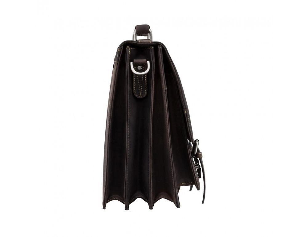 Коричневый мужской портфель из натуральной кожи Visconti 16055ХL OIL BR - Фото № 5
