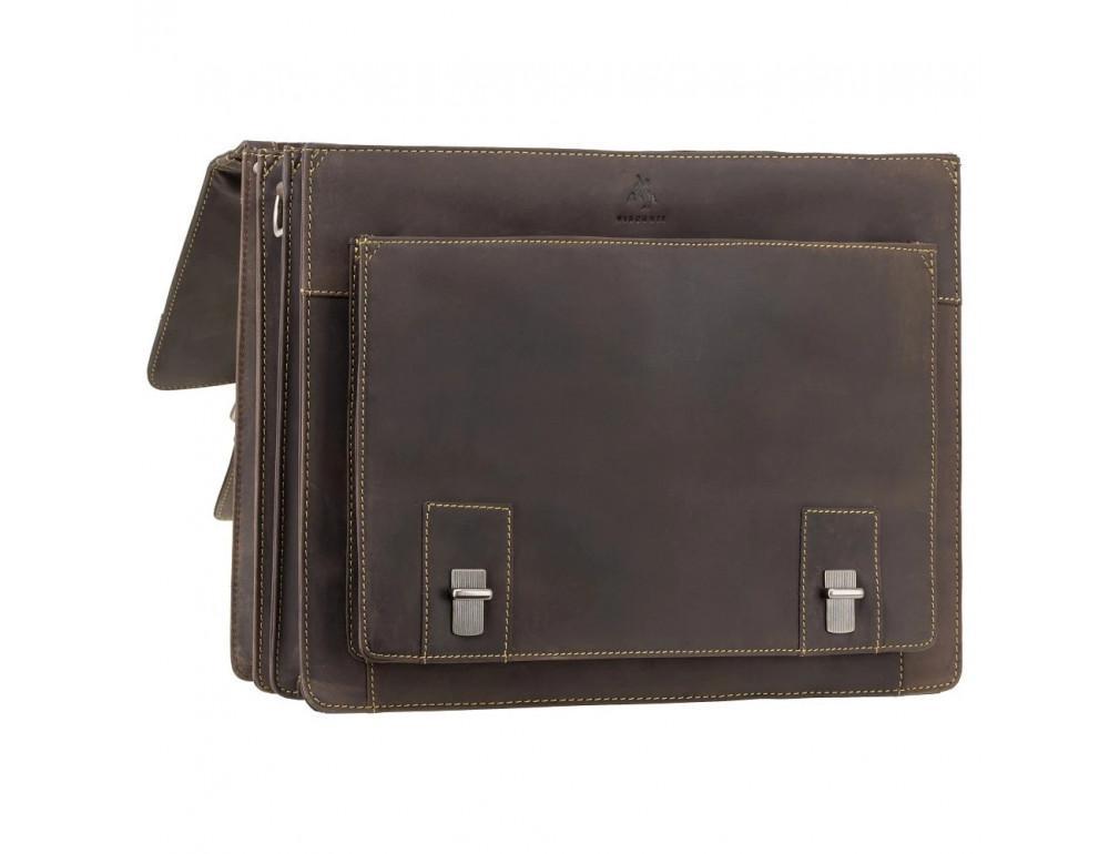 Коричневый мужской портфель из натуральной кожи Visconti 16055ХL OIL BR - Фото № 6