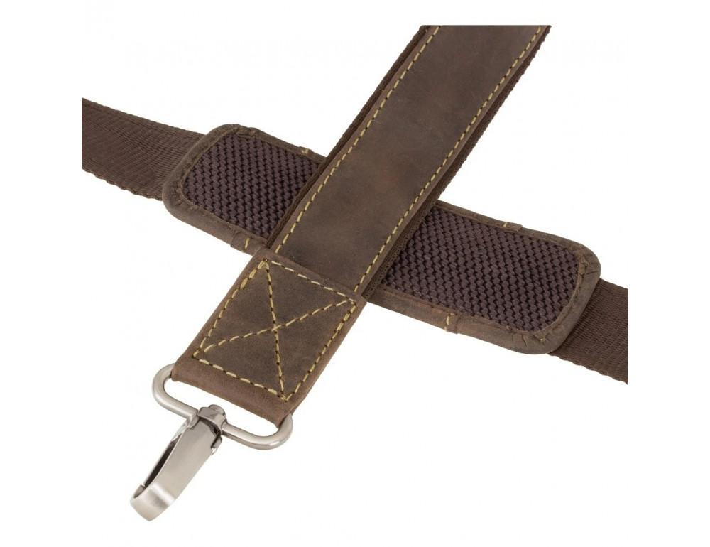 Коричневый мужской портфель из натуральной кожи Visconti 16055ХL OIL BR - Фото № 8