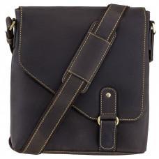 Темно-коричнева сумка-месенджер 16071 OIL BRN Aspin